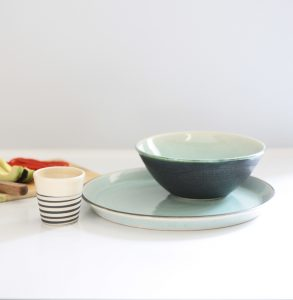 New contemporary bespoke tableware for the Hotel de France. 2